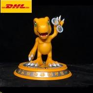 "7 ""KIDULT Digimonผจญภัยรูปปั้นAgumonหน้าอกBotamon Full-Length Portrait SpitfireเดิมGK Action Figureของเล่น18ซม.X1924"