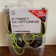 [二手]鐵三角audio-technica ATH-S100 耳罩式耳機 黑綠