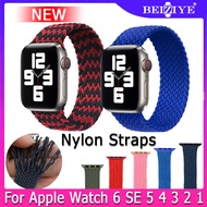 Nylon Braided Solo Loop Watch Bands For Apple Watch 38mm 40mm 42mm 44mm strap for apple watch Series 6 SE 5 4 3 2 1 Bracelet Band