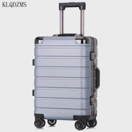 KLQDZMS 20''24Inch PCกระเป๋าเดินทางแบบพกพาบนล้อคลาสสิกCabinกระเป๋าเดินทางสำหรับสตรีและผู้ชาย