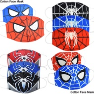 Cartoon Spiderman 3D Face Mask Reusable Adult Kids Baby Boys Cotton Masks Anti Dust Face Mask