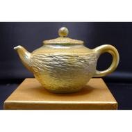 【蘭香閣】柴燒-雲紋金銀燒茶壺(香檳金)林振生作品