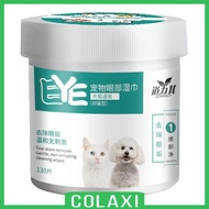 [COLAXI] 130 Pcs DOG TEAR STAIN REMOVER WIPES EYE WIPES FOR PET CATS with Ear Drop