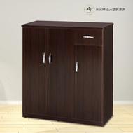 3.2/4尺塑鋼三門一抽鞋櫃 防水塑鋼家具【米朵Miduo】