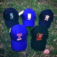 ST嚴選 MLB 創信 大聯盟 球隊 LOGO 老帽 彎帽 棒球帽 太空人 皇家 水手 金鶯 遊騎兵 可調 棒球帽