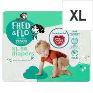 Tesco Fred & Flo Diapers XL 11kg-16kg 56 Pieces