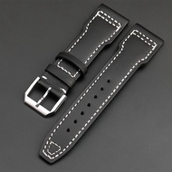 Imported handmade strap suitable for iwc IWC pilot leather strap 21 22mm bronze Spitfire watch strap