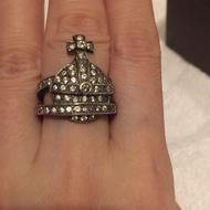Vivienne Westwood 銀色星球鑲鑽戒指 特價活動倒數,之後恢復原價~