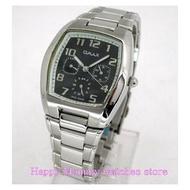 【 幸福媽咪 】 OMAX 毆瑪士 三眼計時 防水不鏽鋼時尚男錶-黑面36mm MF002M