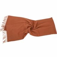 MAX MARA 喀什米爾橘棕色流蘇純羊絨圍巾