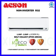 Acson Non Inverter Aircond Self Collect For Ipoh R32 -1.0HP/1.5HP/2.0HP/2.5HP (A3WM-N) Air Conditioner