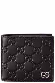 Gucci Mens  Signature Leather Bifold Wallet