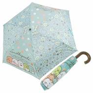 〔小禮堂〕角落生物 彎把防風傘骨折疊傘《綠棕.抱玩偶》折傘.雨具.雨傘