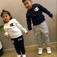Champion 兒童 童裝 秋裝新款 Champion 兒童 運動 套裝 長袖上衣 長褲 😆
