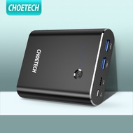 USB C Power Bank, CHOETECH QC 3.0 Quick Charger+18W Power Delivery Portable Battery Charger 10400mAh for iPhone 11 Pro Max/XS Max/XR/XS/X/8/8+, Galaxy S10 /S9/S8, Note 10/9/8