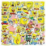 50 PCS SpongeBobเด็กสติ๊กเกอร์การ์ตูนสมุดบันทึกส่วนบุคคลพร้อมกระเป๋าเดินทางกันน้ำสติกเกอร์