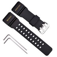 Natural Resin Replacement Watch Strap for Casio Mens G-Shock Master of G Mudmaster Twin Sensor Sports Watch GG-1000/GWG-100/GSG-100