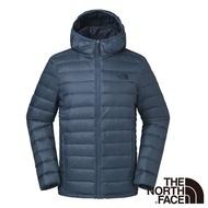 【The North Face】男 700FP防潑水羽絨外套M藍色