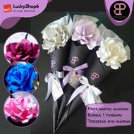 Bunga Wisuda Tangkai Cone Paper Flower Kertas Buket Bunga Bouquet Mawar Graduation Murah Aniversary Pacar Cowok Cewek Hadiah