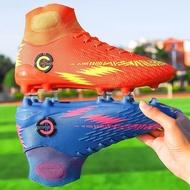 35-46 ชายรองเท้าบูทฟุตบอลข้อเท้าฟุตบอลรองเท้าบูทหุ้มข้อรองเท้าผ้าใบออกกำลังกาย TF & เข็มยาวกลางแจ้งสนามหญ้าฟุตซอลฟุตบอลรองเท้า