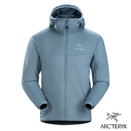 Arcteryx 始祖鳥 男 Atom LT 防潑水 化纖保暖連帽外套 海神灰
