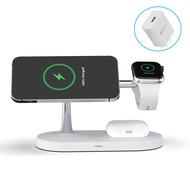 ใช้ได้กับ Magsafe Dual-หมายเลข Apple ที่ชาร์จแบบไร้สายนาฬิกา Applewatch สอง-In-One 12P Magnetic Fast Charging