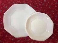Vintage Octagonal Arcopal Plates