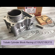 TOBAKI LC135,FZ150,Y15 CYLINDER BLICK RACING TOBAKI 57MM(STD)