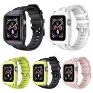 กีฬาซิลิโคนวง 44 มม.42 มม.40 มม.38 มม.สายพร้อมเคสเคสสำหรับ Apple Watch 5 4 3 2 1