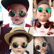 ❀ mainan perempuanmainan budak lelaki❀cermin mata❀cermin❀mainan ❀ ✵Cermin mata kanak-kanak bulat kanak-kanak lelaki cermin mata hiasan gadis kecil menunjukkan cermin mata bayi comel warna gelas bulat trend❇