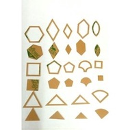 手縫拼布快速畫圖/壓線專用壓克力型板