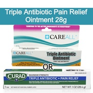 Triple Antibiotic Pain Relief Ointment Cream 28g wounds cuts burns injury. Comparative to Neosporin