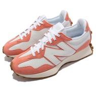 New Balance 休閒鞋 327 復古 N字鞋 男女鞋 紐巴倫 穿搭款 麂皮 皮革 異材質拼接 白 橘 MS327PN-D MS327PN-D