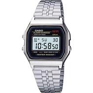 Casio Digital นาฬิกาข้อมือ สีเงิน สายสแตนเลส รุ่น A159W-N1 ของแท้ ประกัน CMG