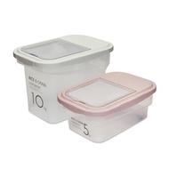 CIMELAX 儲米桶 儲米箱 收納保鮮 密封 帶除濕器 防蟲防潮 飼料密封罐 飼料桶 儲米罐 5,10kg 韓國製