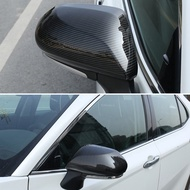 Ready stock  Car Rearview Mirror Cover Carbon Fiber Rearview Mirror Sticker Frame