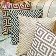 💙印度禪風💙45x45公分幾何圖形刺繡抱枕套 護腰枕靠枕套車內床上枕沙發枕《加購MIT枕心只要120元》【築巢傢飾】