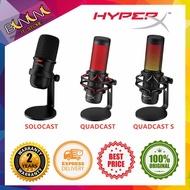 [Ready Stock] HYPERX QUADCAST   QUADCAST S Condenser Gaming   Streaming Microphone (HX-MICQC-BK)   HyperX SoloCast