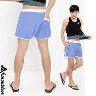 【西班牙-戶外趣】西班牙品牌 中性輕薄涼爽防曬快乾短褲(S316230 寶藍)