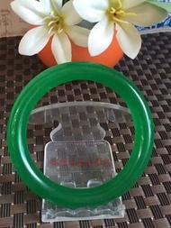 天然綠玉髓圓條手鐲1入