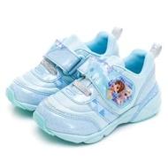 【MOONSTAR 月星】冰雪奇緣系列-電燈童鞋(藍色)