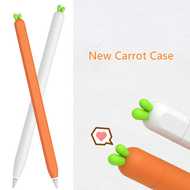เคสปากกา เคสซิลิโคน แครอท เคสปากกา apple pencil 1 เคสปากกา apple pencil new Cute Carrot Silicone Apple Pencil 2/1 Case For iPad Tablet Touch Pen Stylus Car