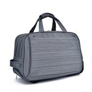 【悅生活】GoTrip微旅行--22吋質感絲紋登機拉桿收納購物車 灰色(拉桿包 拉桿袋 行李箱 購物車)