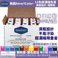 美國Americolor【12色盒裝】老師的最愛!高濃度色膏組 每瓶(21g) 僅個人藝術創作工藝用
