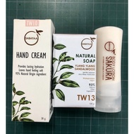 SABAYAA 保養組、美妍嫩白組、白皙嫩手霜、保濕水凝乳、椰萃嫩白皂