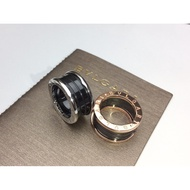 Classic Bulgari BV black ceramic wide version cnc ring couple ring stainless steel non-fading male a