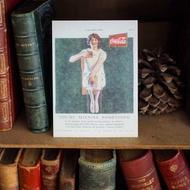 歐美早期知名廣告原版復刻明信片 可口可樂仕女