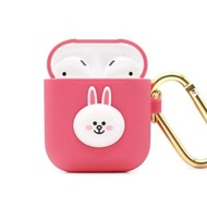 【GARMMA】LINE FRIENDS AirPods 1&2代藍牙耳機盒保護套 兔兔