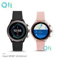 【愛瘋潮】Qii Fossil SPORT (41/43mm) 玻璃貼 (兩片裝) 手錶保護貼