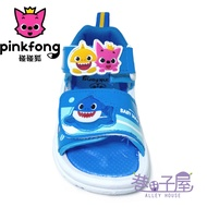PINKFONG碰碰狐 鯊魚寶寶 兒童電燈運動休閒涼鞋 [06516] 藍 MIT台灣製造【巷子屋】